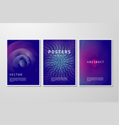 abstract background set trendy geometric vector image