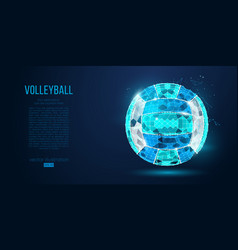 abstract silhouette volleyball ball neon vector image