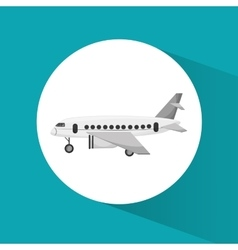 Airplane vehicle to travel design vector