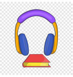 Audio book icon cartoon style vector