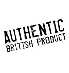 Authentic british product stamp vector image