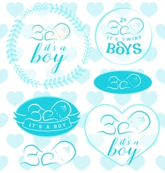 Baby Boy Badge Set vector