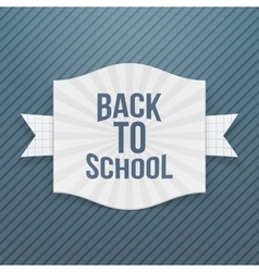Back to School striped Tag vector