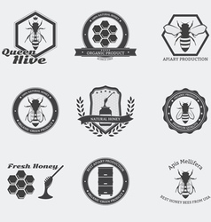 Bees emblems vector