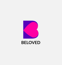 Beloved abstract b letter initial emblem logo vector