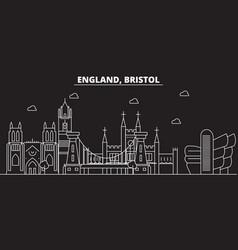 Bristol silhouette skyline great britain vector