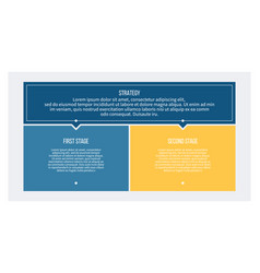 business process chart with 2 steps options vector image
