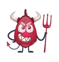 Cartoon devil character vector