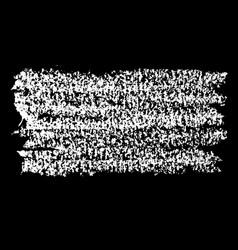 chalk brush grunge element with chalk texture vector image