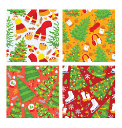 christmas greeting card background banner vector image
