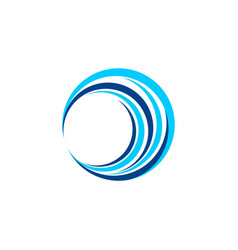 circle wave logo symbol icon design vector image