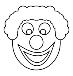 Clown head icon outline style vector