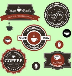 coffee labels in retro style vector image