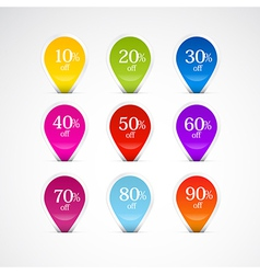 Colorful Labels Tags Set vector image vector image