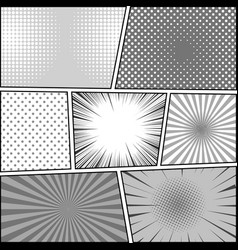 Comic book page monochrome background vector