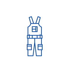 construction overalls line icon concept vector image