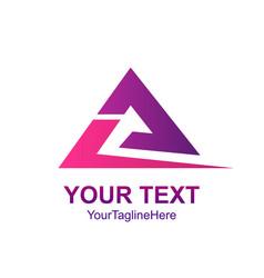 creative abstract triangle swoosh logo design vector image