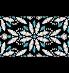 diamond jewellery seamless pattern vector image