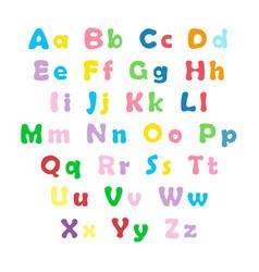 english color alphabet vector image