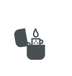 Fire lighter icon vector