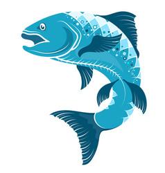 Fish symbol for fishing vector