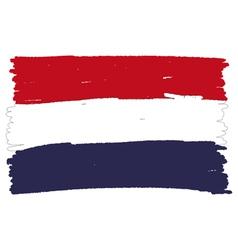 Flag of Netherlands handmade vector image