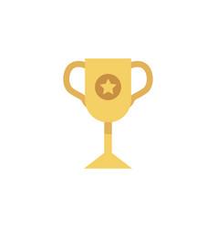 flat golden winner cup icon vector image