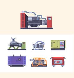 Fuel generator steel industrial electric machines vector