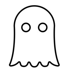Ghost icon black color flat style simple image vector