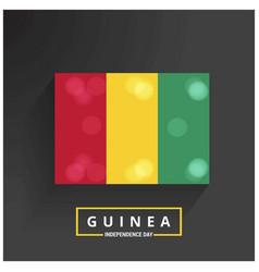 Guinea independence day patriotic design happy vector