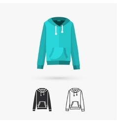 Hooded sweater vector image