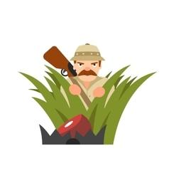 Hunter in ambush vector
