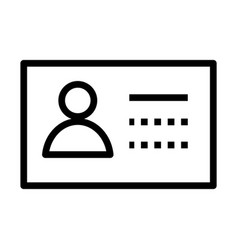 Id document flat style icon vector