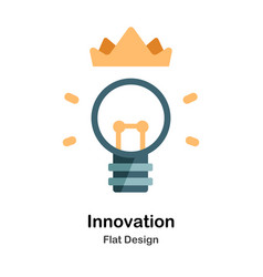 Innovation flat icon vector