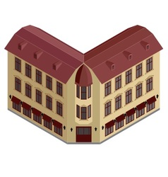 Isometric corner building vector