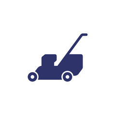 Lawn mower icon on white vector