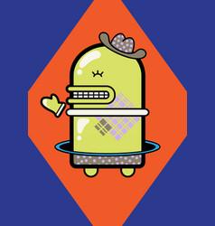 Little green robot vector