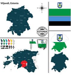 map of viljandi estonia vector image