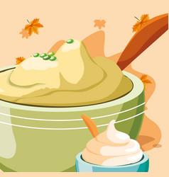Mashed potatoes design vector