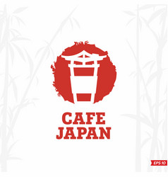 Modern professional sign logo cafe japan vector