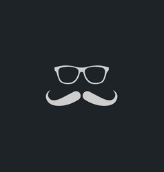 mustache icon simple vector image