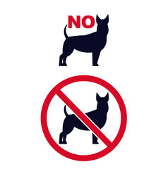 no dogs signs pet forbidden icons with dogs vector image