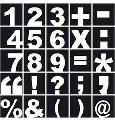 Numerical alphabet and punctuation vector