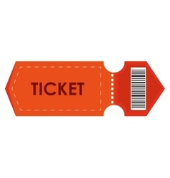 Orange movie ticket vector