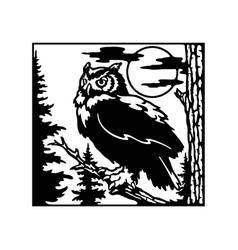 Owl wildlife wildlife stencils - forest vector