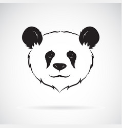 Panda head design on white background wild vector