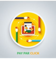 Pay Per Click Concept Internet Advertising Model vector image