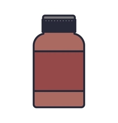 Remedy bottle with tap and label vector