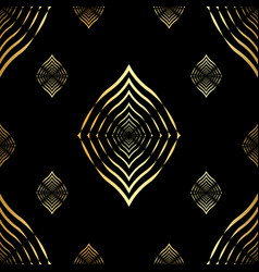 seamless pattern golden lines geometric vector image