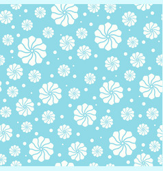 seamless pattern with abstract floral elements vector image